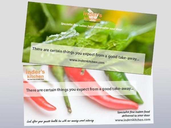Inder's Kitchen flyers by BAAM